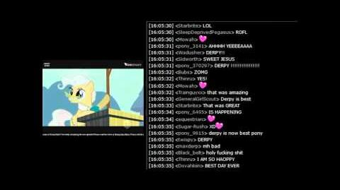 """MLP FiM - Chat Reactions to Derpy in """"The Last Roundup"""""""