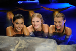 Cleo, Rikki and Bella in Moon Pool