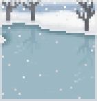 Background frozen lake