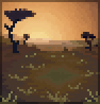 Background sunset savannah