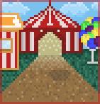 Background mistiflying circus