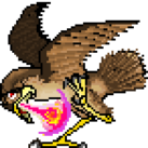 A fire-breathing falcon