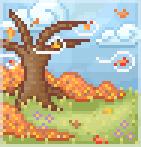 Background windy autumn