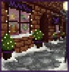 Background winter storefront