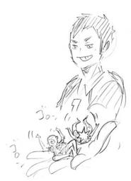 Daichi Controlling Hinata and Tanaka