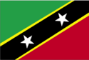 St kitts and nevis flag large