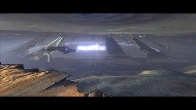 Covenant Assault Carriers guarding The Portal