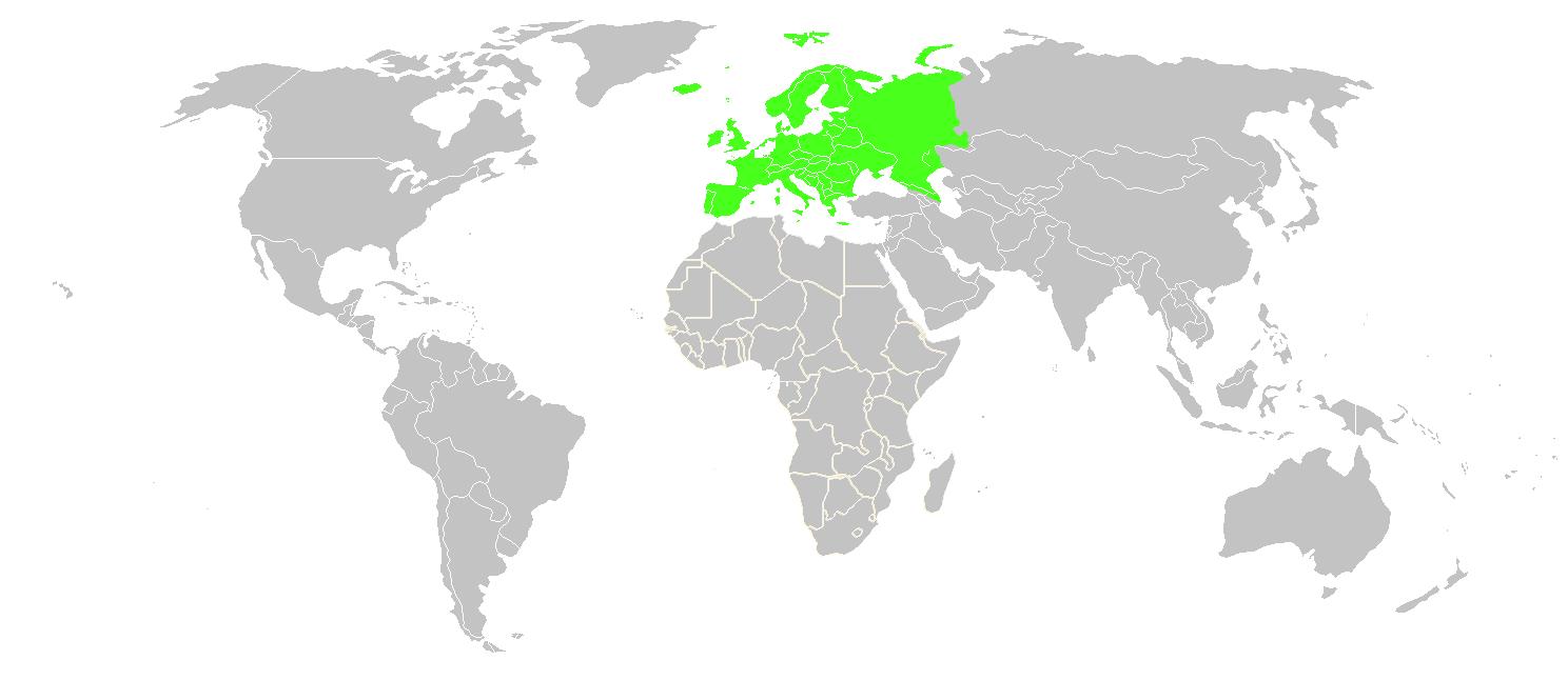 {Europe In The World Map – Europe in the World Map