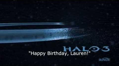 "Halo 3 - ""Happy Birthday, Lauren!"" Load Screen Easter Egg"