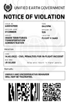 H5G HTT UEG-NoticeofViolation Flight