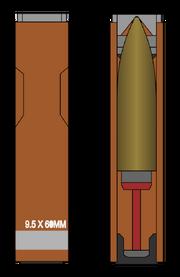 9.5x60mm Caseless