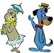 Cindy Bear and Huckleberry Hound