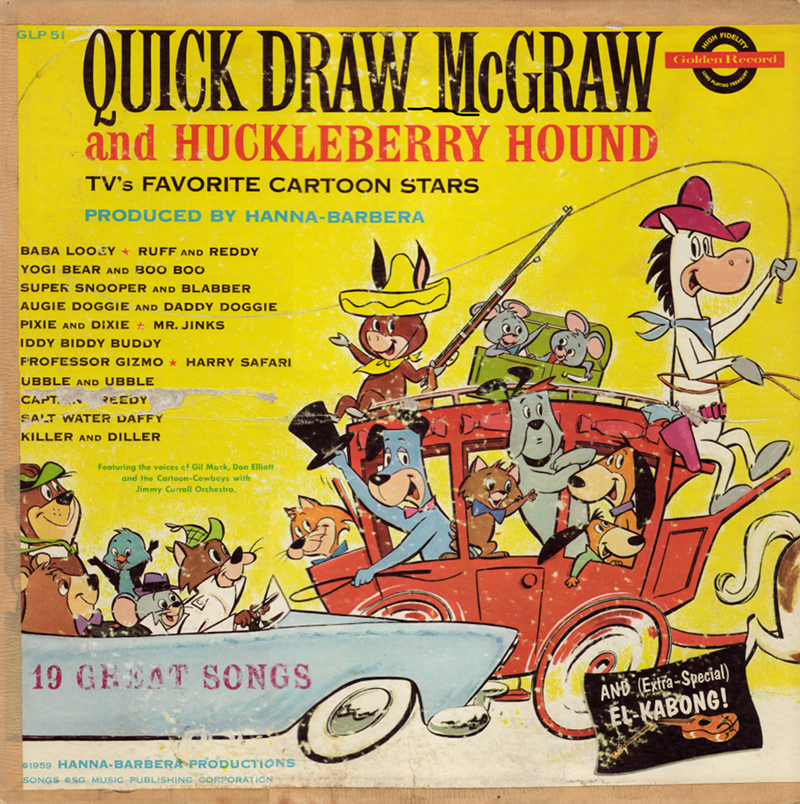 Quick Draw McGraw and Huckleberry Hound - TV's Favorite