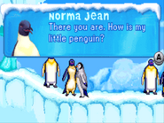 Norma Jean meets Adult Mumble in GBA Game