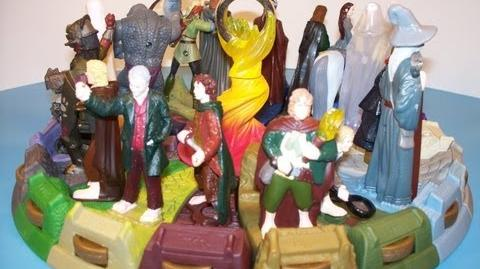 2001 BURGER KING THE LORD OF THE RINGS FELLOWSHIP OF THE RING SET OF 19 KIDS MEAL MOVIE TOYS REVIEW