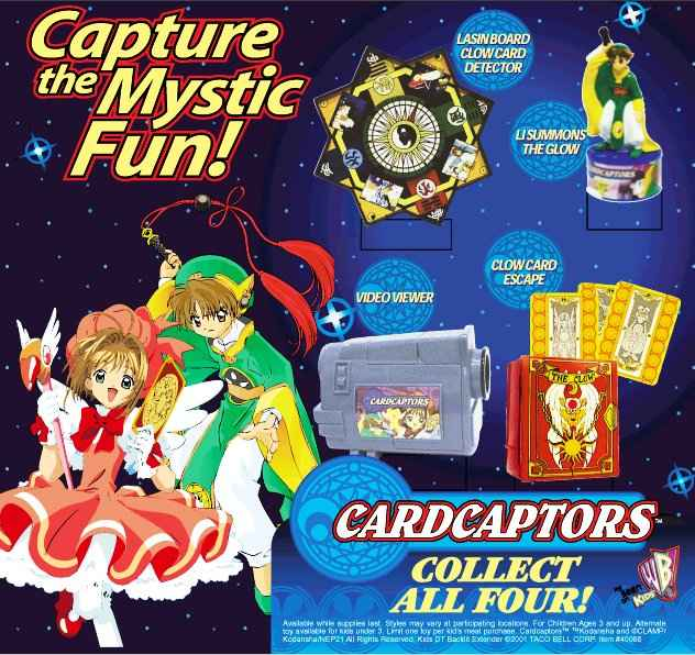 Cardcaptors Taco Bell 2002 Kids Meal Wiki Fandom