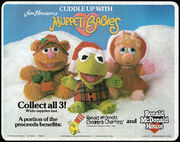 McDonald's Trayliner Placemat Muppet Babies holiday dolls 1988