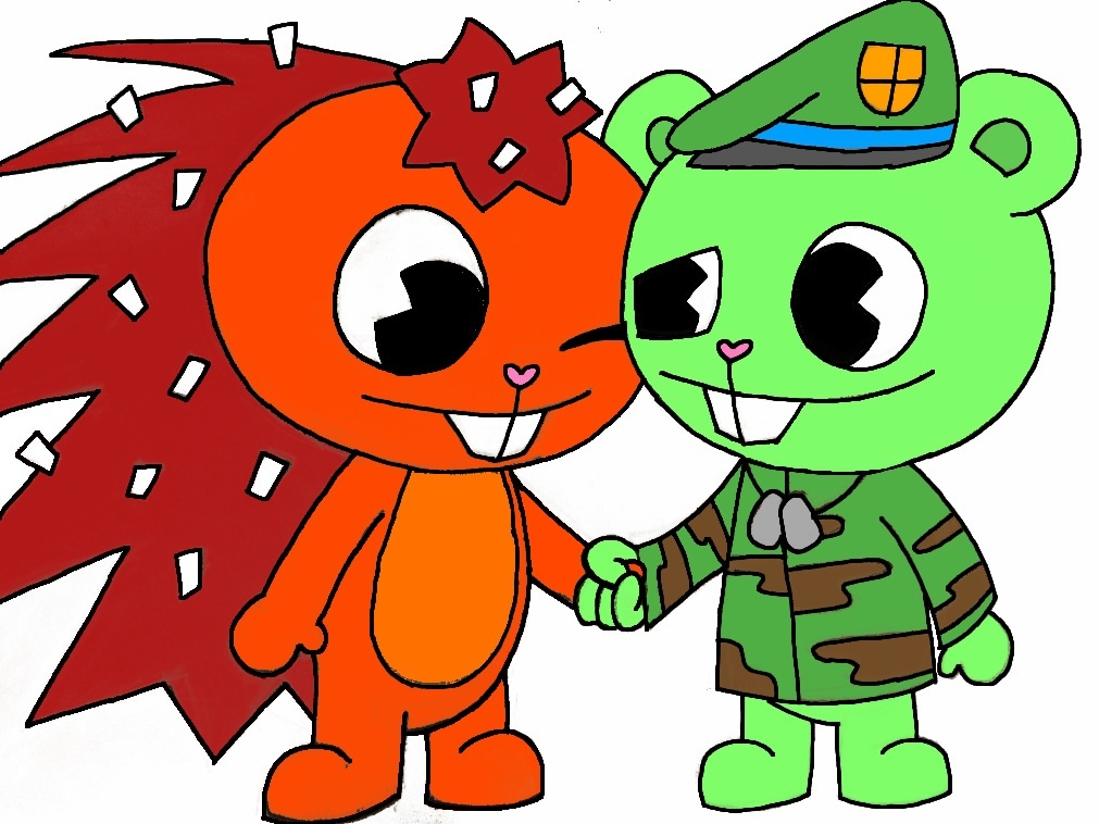 happy tree friends flippy and flaky relationship with god