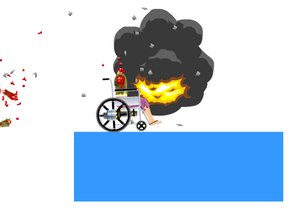 Happy Wheels homing mine in action