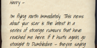 Sirius Black's letter to Harry Potter (1994) II