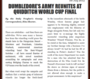 DUMBLEDORE'S ARMY REUNITES AT QUIDDITCH WORLD CUP FINAL