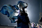 Voldemort destroys the Shield from Hogwarts - Deathly Hallows Part 2