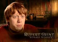 Rupert Grint (Ron Weasley) HP6 screenshot