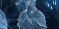 Knight with an arrow sticking out of his forehead