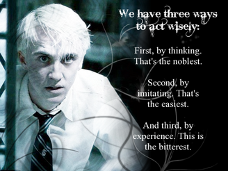 Confucius quote Draco Malfoy by Shinaya