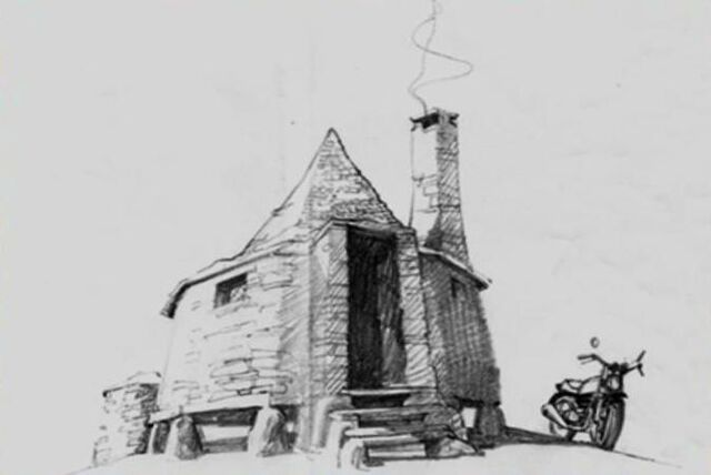 File:Hagrid's Hut with Sirius' MotorCycle (Concept Artwork).JPG
