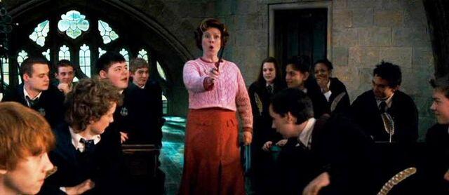 File:Dolores Umbridge as Defence Against the Dark Arts teacher.jpg