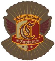 Gryffindor Quidditch Captain Patch