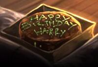 Harry's birthday cake