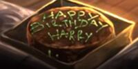 Harry Potter's birthday cake from Rubeus Hagrid
