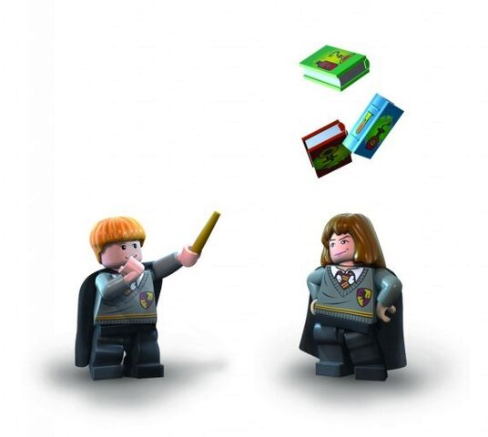 File:Ron Hermione books Lego Years 1 to 4.jpg