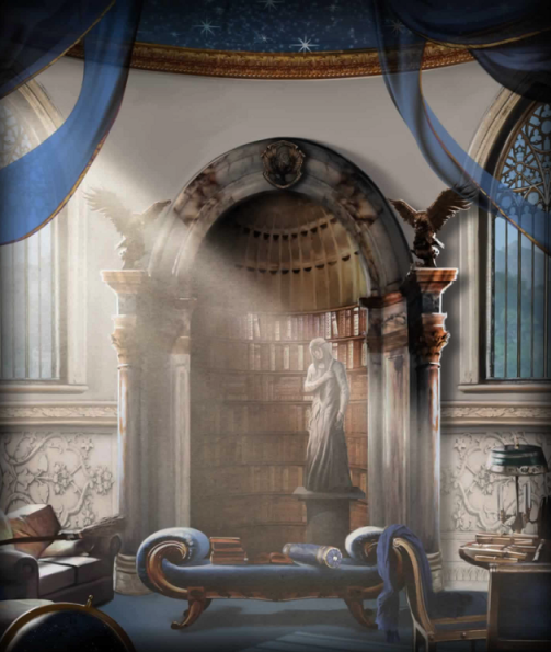 Image of the Ravenclaw Common room