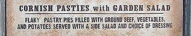 Cornish Pasties with Garden Salad