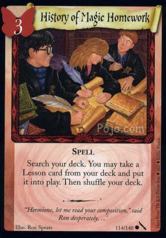 File:History of Magic Homework (Harry Potter Trading Card).jpg