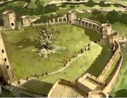 Whomping Willow and Quidditch Pitch Location 02 (Concept Artwork for HP2 movie) (2)