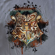 Hogwarts Crest design for Gray T-Shirt