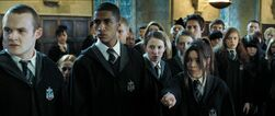 Slytherins battle