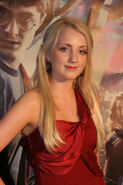 Evanna Lynch (Luna Lovegood) during a HP6 screening