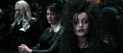 DH1 Lucius Malfoy, Narcissa Malfoy and Bellatrix Lestrange