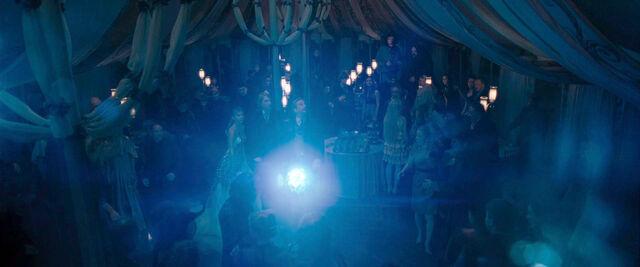 File:DH1 Kingsley's patronus arrives at Fleur and Bill Weasley's wedding.jpg