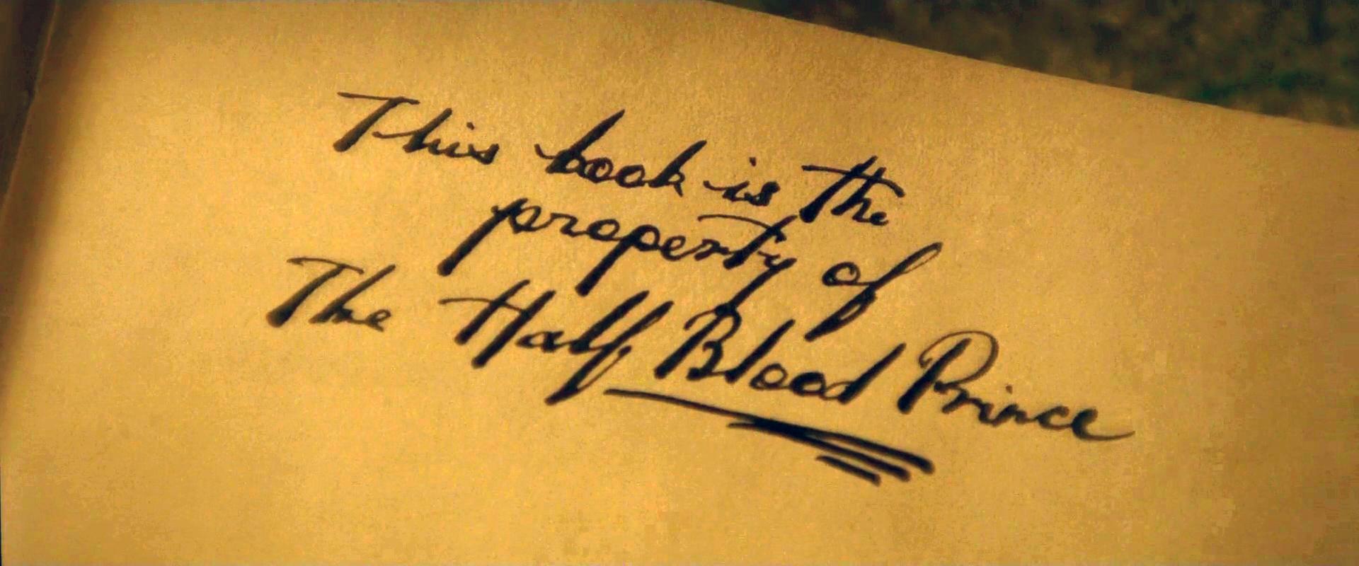 Image - Property of the Half-Blood Prince.jpg | Harry Potter Wiki ...