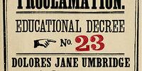 Educational Decree Number Twenty-Three