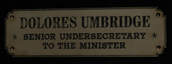 Dolores Umbridge sign