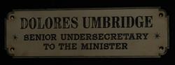 Dolores Umbridge sign
