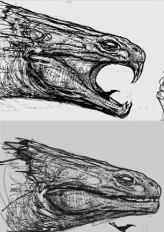 File:Head of the Basilisk (Concept Artwork for HP2 movie).JPG