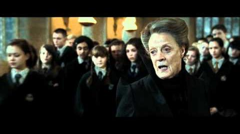 Harry Potter and the Deathly Hallows part 2 - McGonagall sends the Slytherin students away (HD)